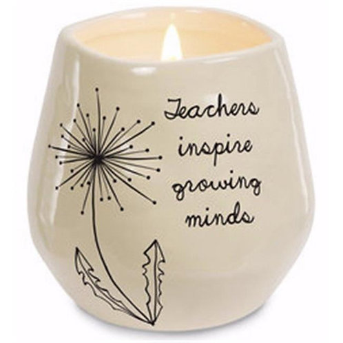 8oz, Soy Wax Candle - Teachers inspire growing minds