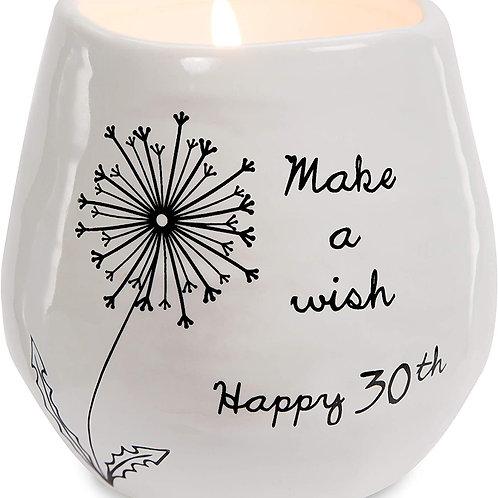 8oz, Soy Wax Candle - Make a Wish Happy 30th Birthday