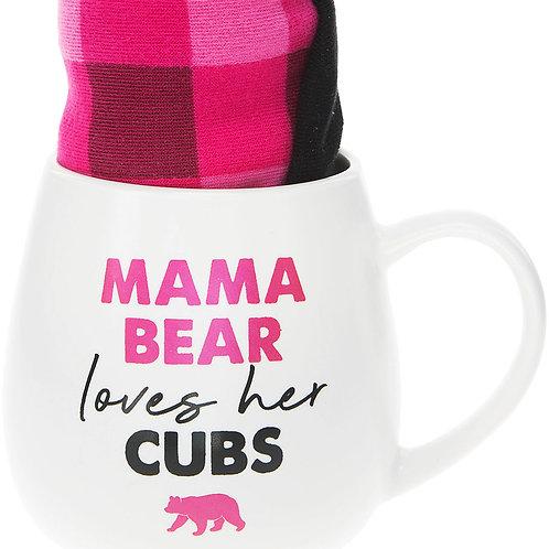 Mama Bear - 15.5 oz Mug and Sock Set