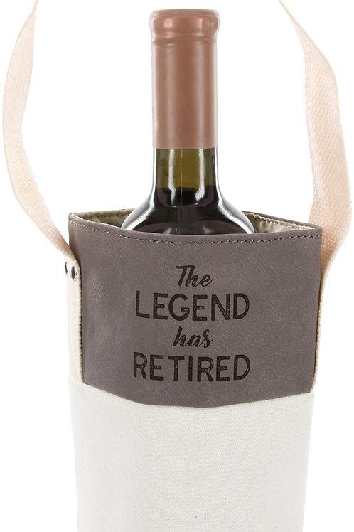 The Legend - Canvas Bottle Gift Bag