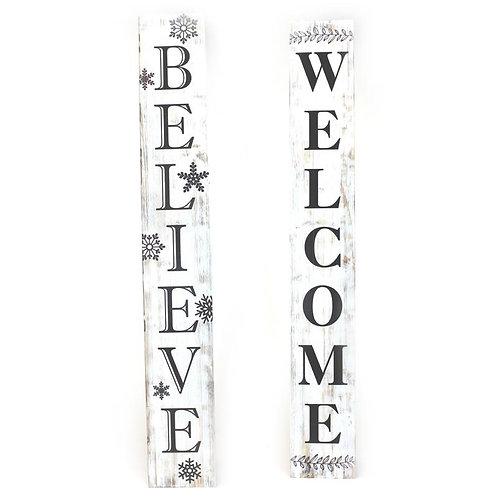 Welcome Believe Plaque
