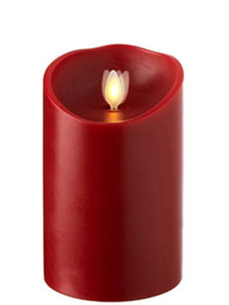 LED Wax Candle Waving Flame (8x13cm)