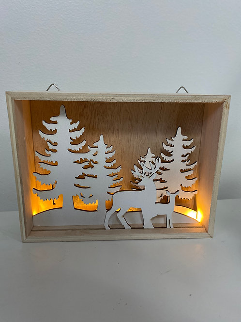 LED Reindeer Plaque
