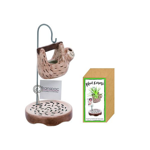 Hanging Sloth Plant Keeper/Photo Holder 4 x 4 x 8 in.