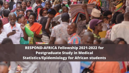 RESPOND Africa Fellowship 2021-2022 for Postgraduate Study in Medical Statistics/Epdiemiology