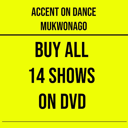 ALL 14 Shows on 14 DVD's - 2021 Accent on Dance - Mukwonago