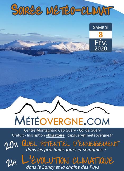 Soirée météo-climat le 08/02 à Cap Guéry
