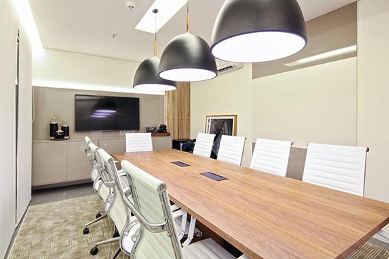 fotografia de arquitetura e interiores- sala de reunião