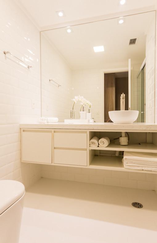 fotografia de banheiro flat