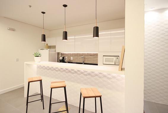 copa e cozinha na fotografia de escritorio