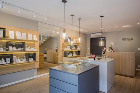 Fotografia de projeto de loja de joias
