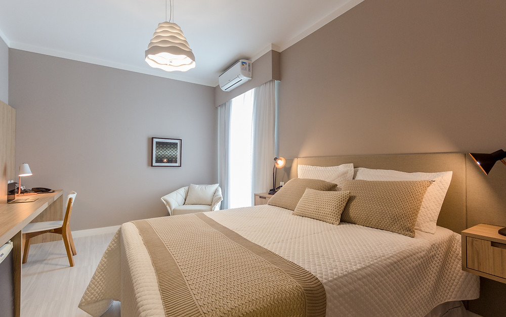 fotografia de quarto de hotel -flat