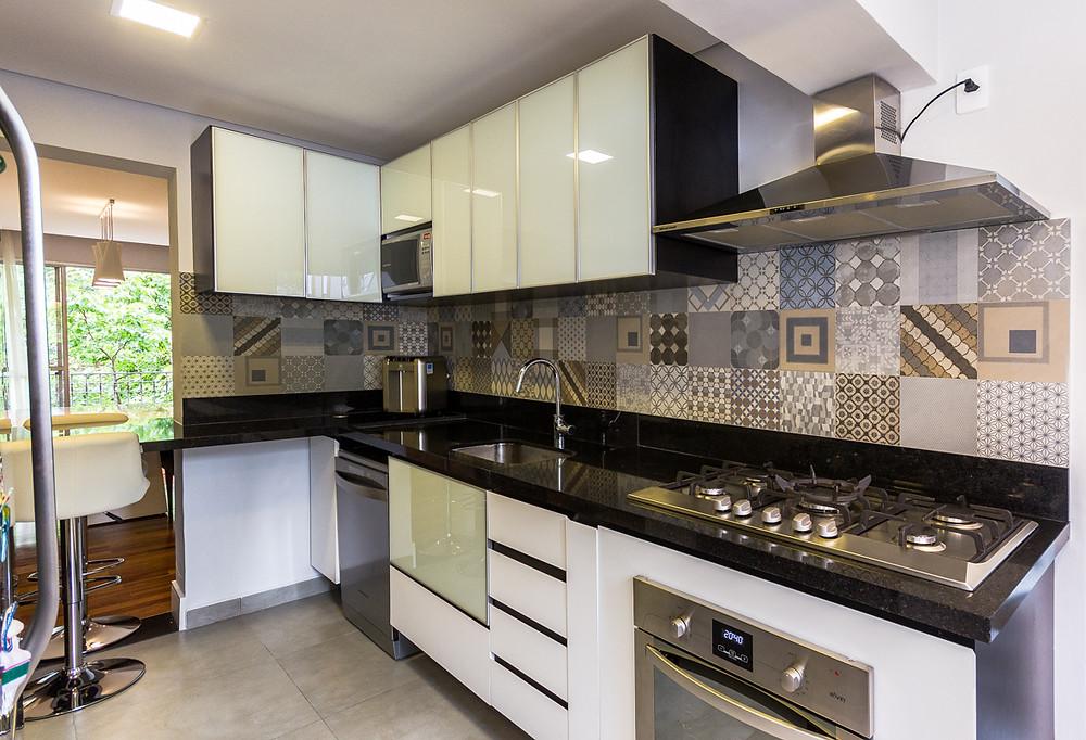 fotografia de cozinha decorada