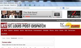 Bob Band St Louis Post Dispatch ad copy.