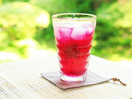 夏バテ予防に紫蘇ジュース