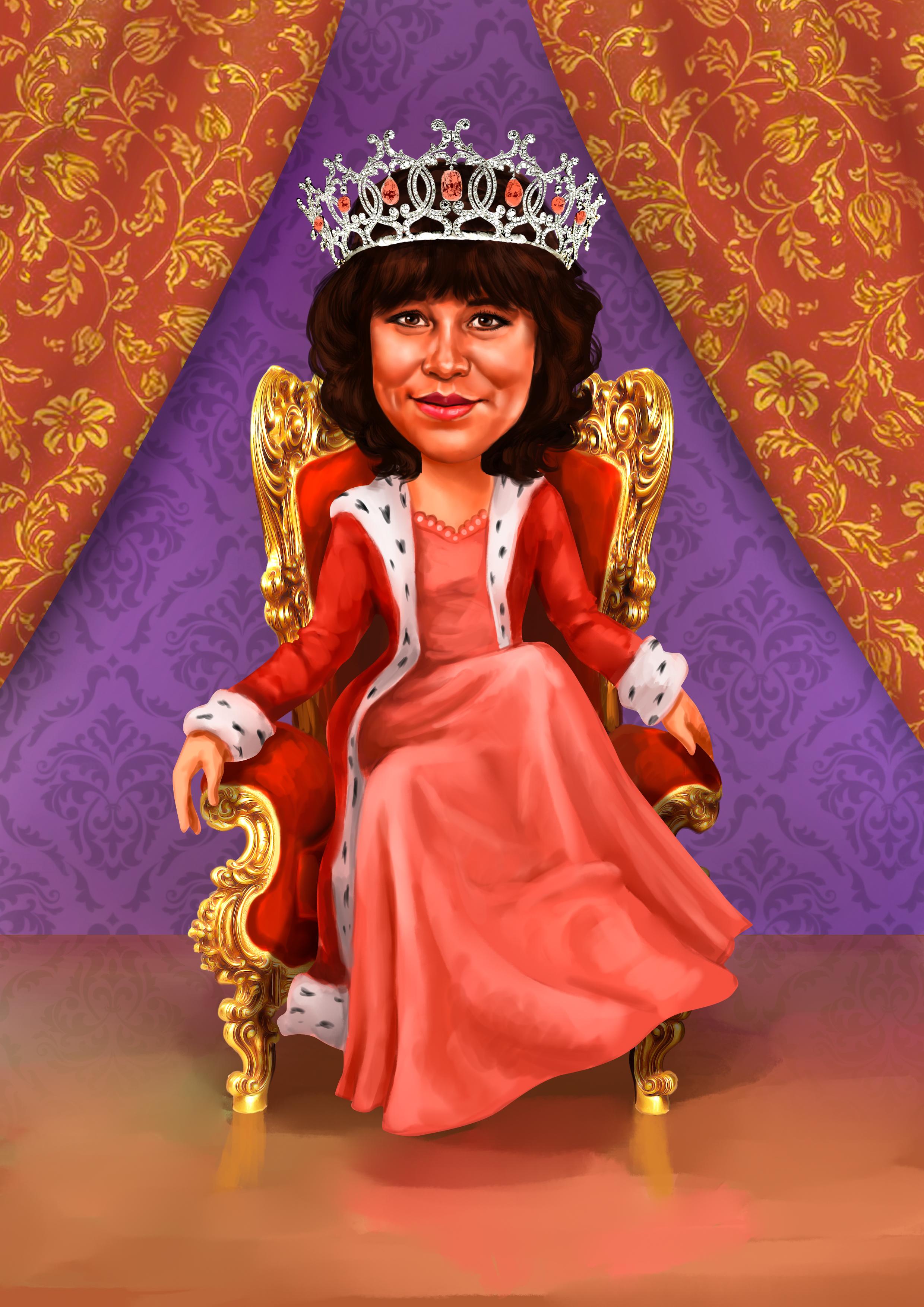 Шарж шаблон королева