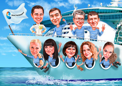 Корабль корпоративный шарж
