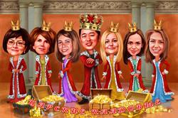 Корпоративный шарж короли
