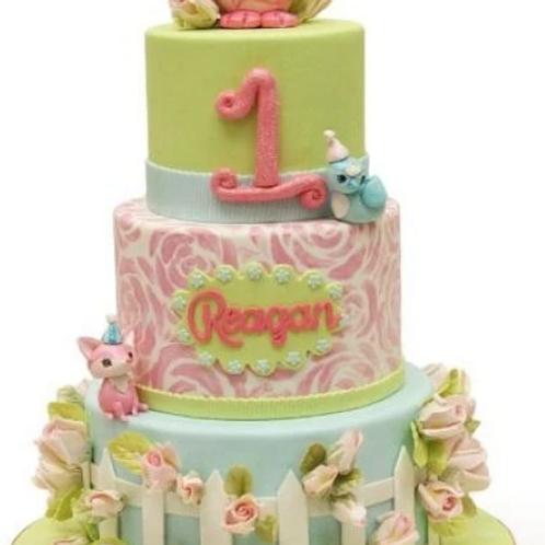 Delightful 1st Birthday Cake