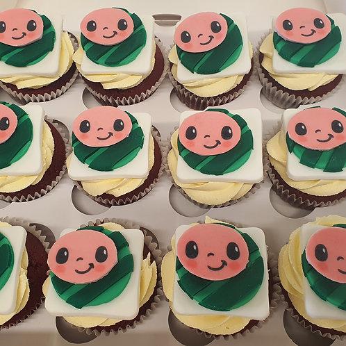 Cocomelon Theme Cupcakes