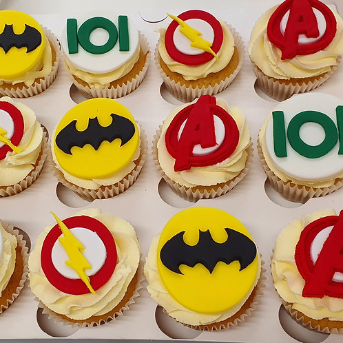 Super Hero Theme Cupcakes