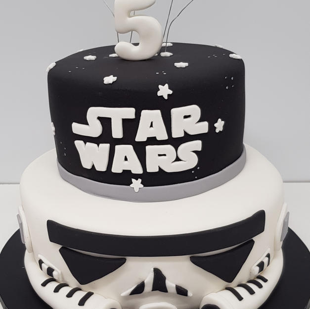 2 Tier Star Wars Theme Cake