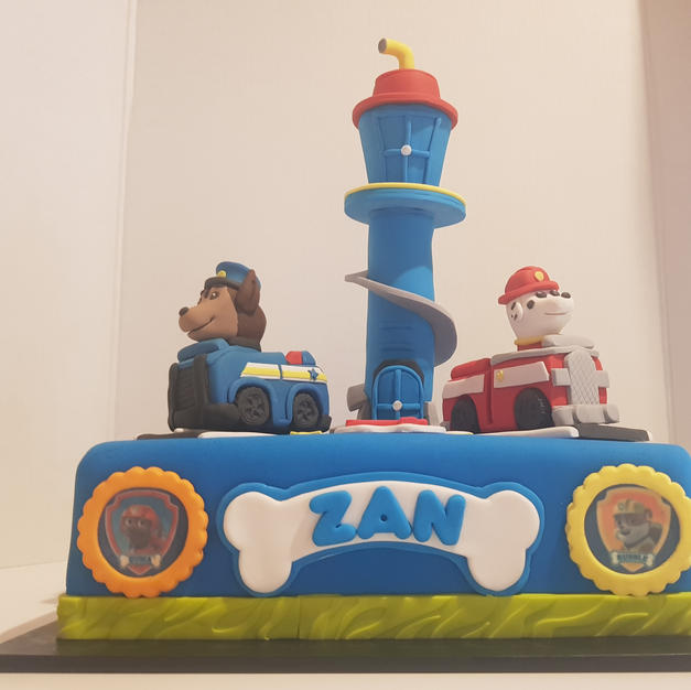 Paw Patrol Cake With Edible Lookout Tower