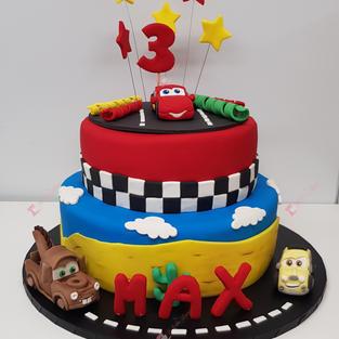Disney Cars 2 Tier Cake