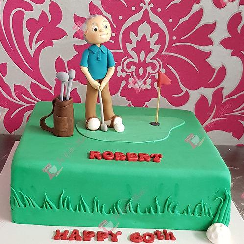 Golf Theme Birthday Cake