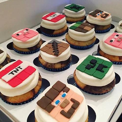 Minecraft Theme Cupcakes