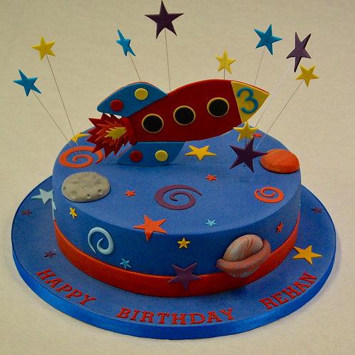Space Theme Birthday Cake