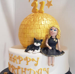21st Mirror Ball Cake