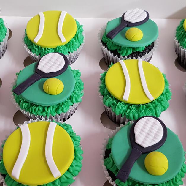 Tennis Theme Cupcakes