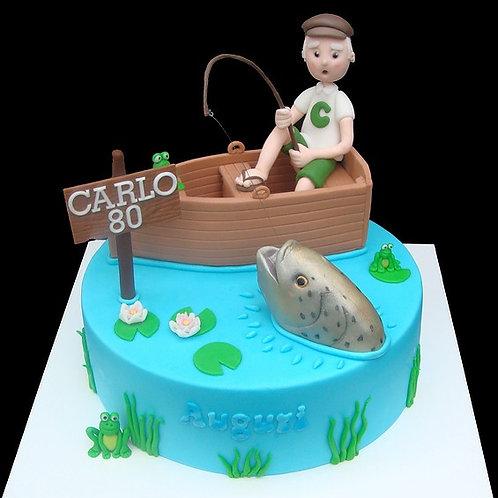 Fishing Theme Birthday Cake