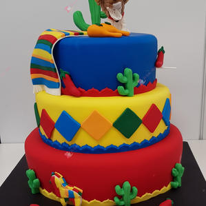 Mexican Fiesta Theme Cake