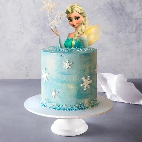 Disney Frozen Theme Birthday Cake