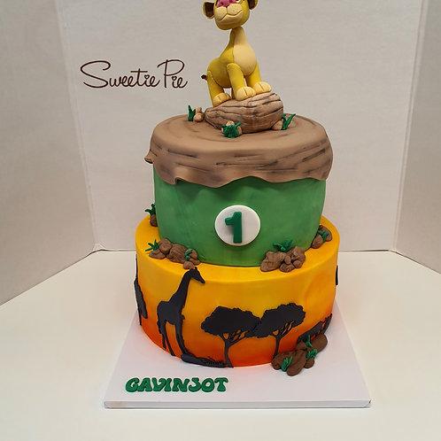 Lion King Theme Birthday Cake