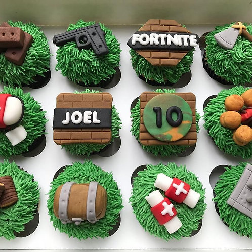 Fortnite Theme Cupcakes