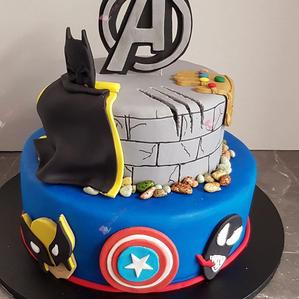 2 Tier Avengers Cake