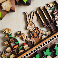 Mad Hatter's Tea Party, Alice In Wonderland Layered Wooden Wall Art