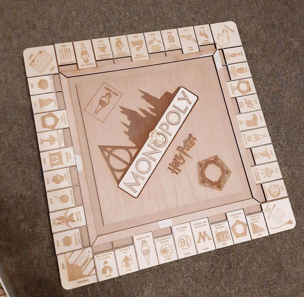 Laser cut Harry Potter Monopoly