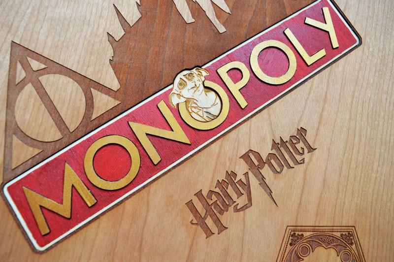 Laser cut Harry Potter Monopoly Dobby