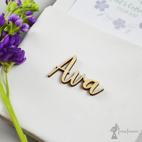 Personalised Calligraphy Place Names