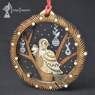 Layered Partridge Decoration