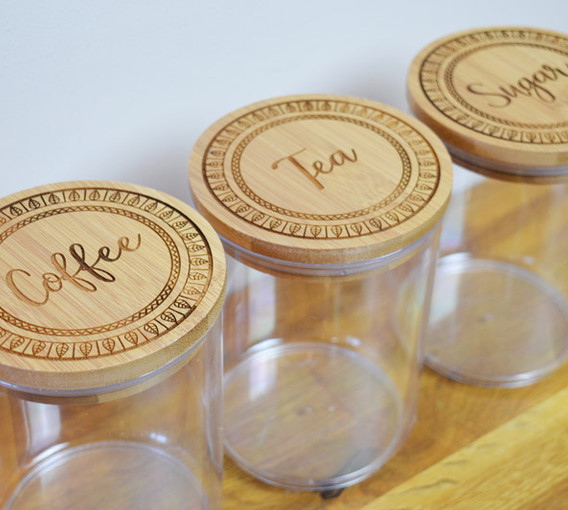 Custom Engraved Cannisters
