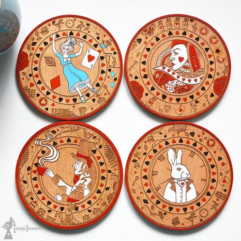 Alice In Wonderland Coasters