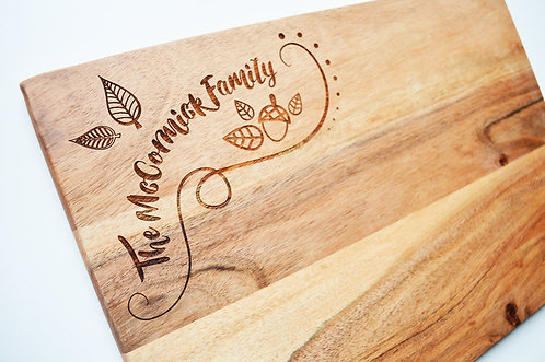 Personalised Autumnal Chopping Board