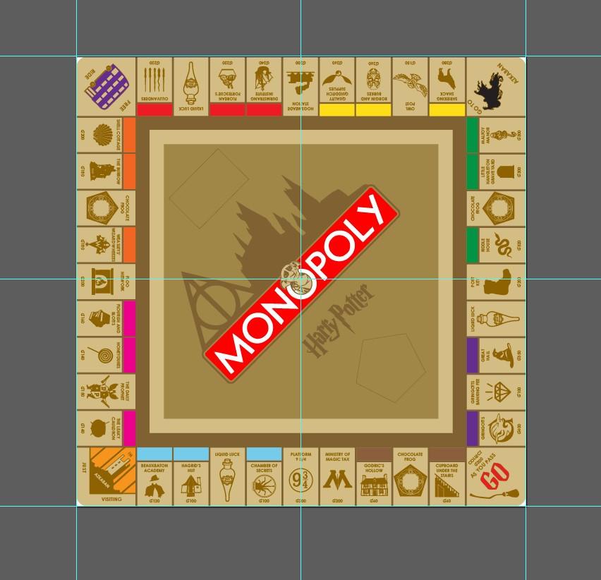 Computer Design Harry Potter Monopoly