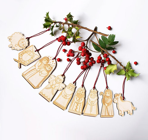 Nativity Hanging Decorations - Complete Set