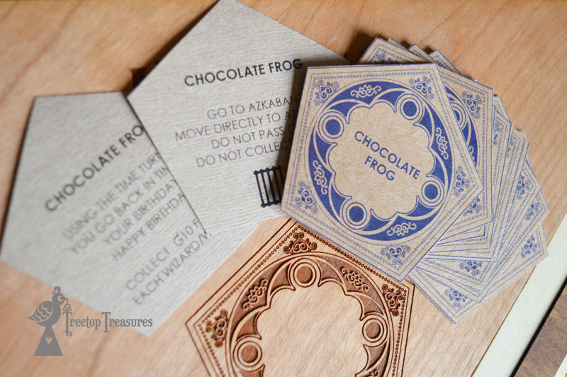 Laser cut Harry Potter Monopoly, Chocolate Frog Cards